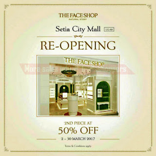 TheFaceShop Setia City Mall Re-Opening Promotion