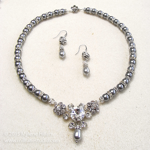 Mother of the Bride Necklace and Earrings Set