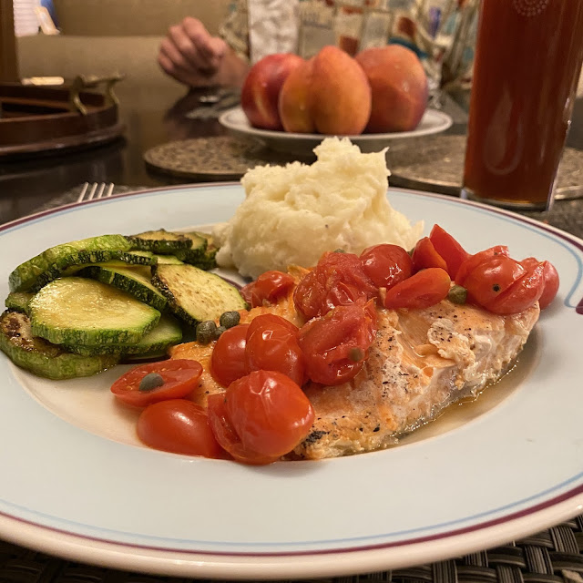 Salmon is a calming food that will naturally help you feel better