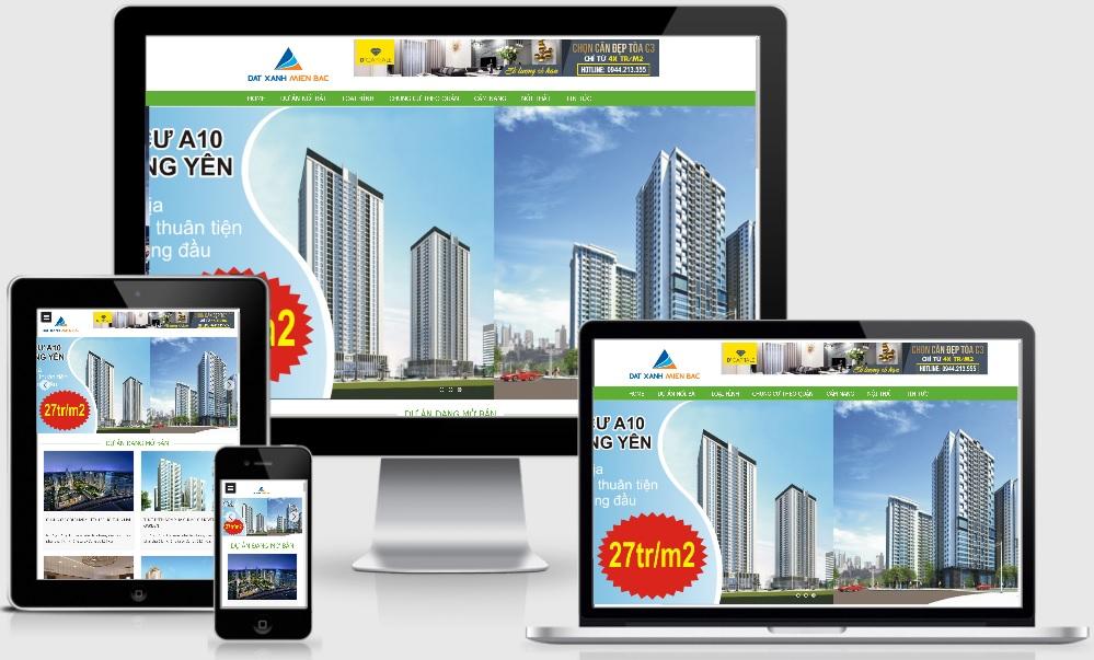 Template blogspot bất động sản mẫu mới nhiều dự án - Ảnh 1