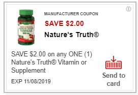 PRINT $2.00/1 Nature's Truth coupon