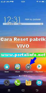 Cara factory reset pabrik VIVO Y71