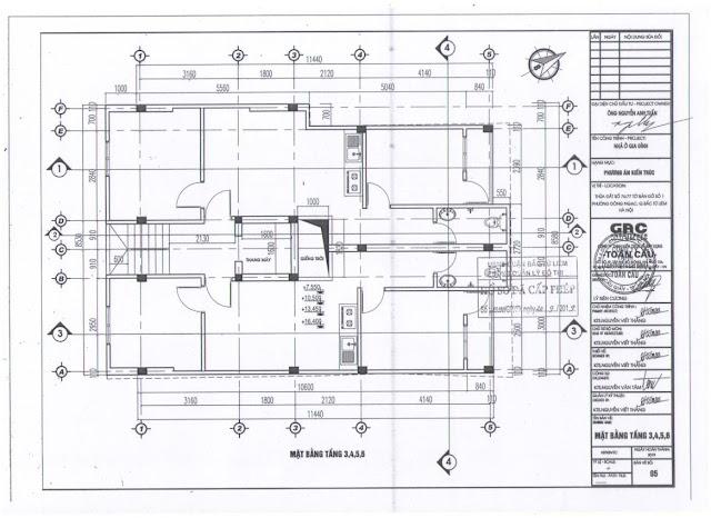 Thiết kế tầng 3-6 chung cư mini Minh Đại Lộc 2B
