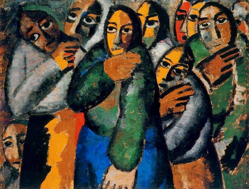 Homem Camponês na Igreja - Kasimir Malevich e suas pinturas com elementos geométricos abstratos