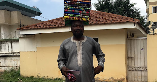 Buying African fabrics from the Cloth Man