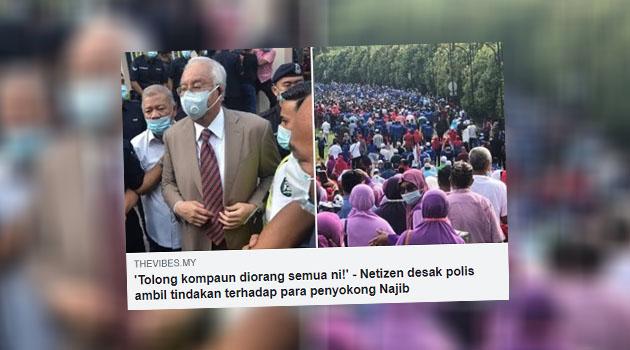 Penyokong Najib akan dikompaun jika didapati melanggar SOP PKPP - Polis