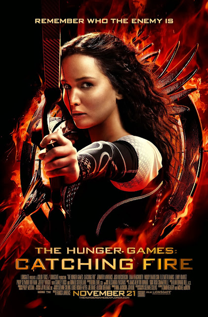 The Hunger Games: Catching Fire, Directed by Francis Lawrence, starring Jennifer Lawrence as Katniss Everdeen, movie poster