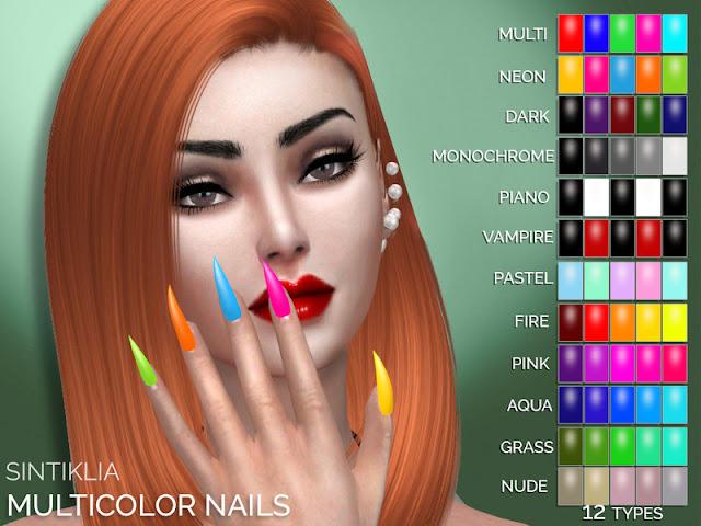 Маникюр для The Sims 4 со ссылками на скачивание
