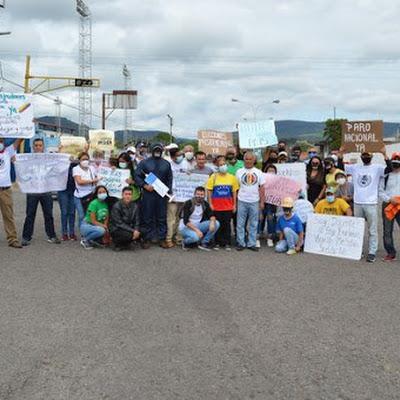 Pancartazo en Rubio, municipio Junín del estado Táchira
