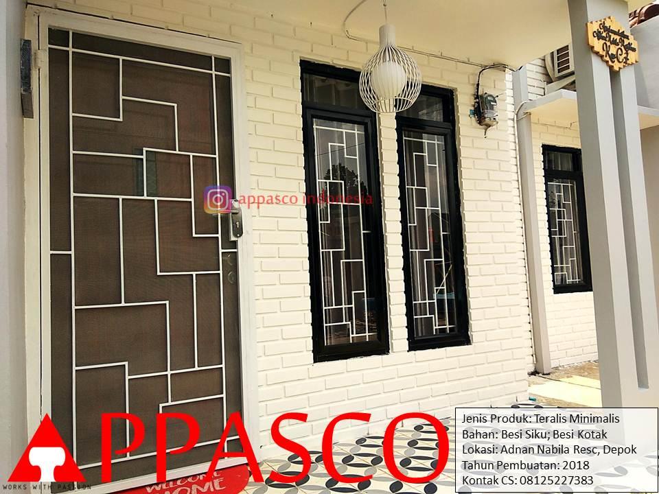 Teralis Minimalis Besi Siku dan Kotak di Adnan Residence Depok