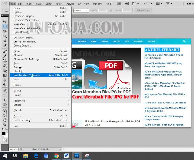 Cara mengecilkan ukuran file gambar