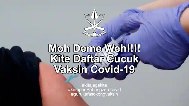 Kempen Daftar Terima Suntikan Vaksin Covid-19 bagi Guru KAFA Negeri Pahang