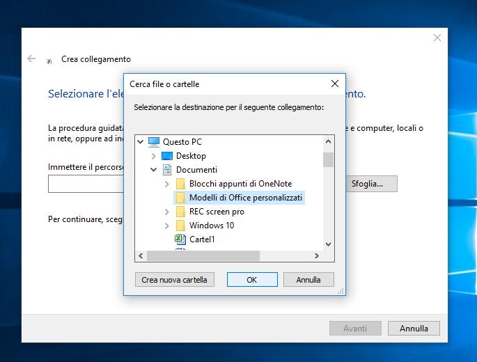 come creare collegamento in Windows 10 (2)