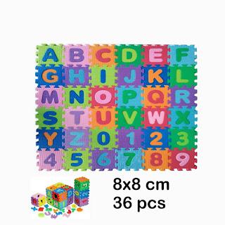 Karpet Puzzle Evamat Abjad Angka 8x8