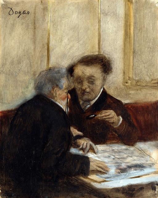 Эдгар Дега - В кафе Chateaudun (1869-1871)