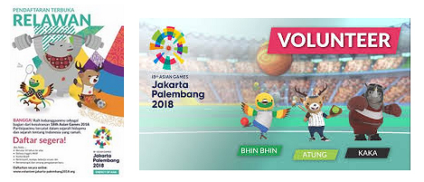 loker 2018 volunteer asian games