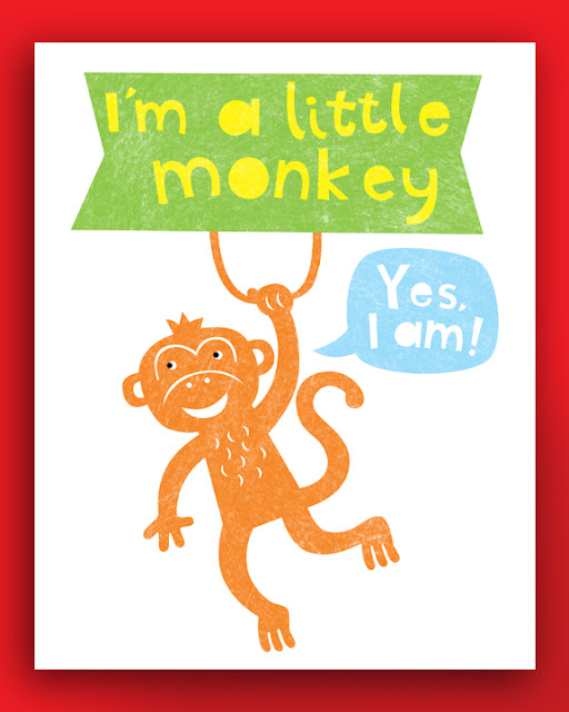 Picture of a swinging monkey