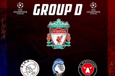 قرعة دوري أبطال أوروبا.. المجموعة الرابعة: ليفربول مع أياكس وأتالانتا ومييتلاند