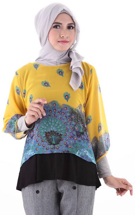 Foto Baju Batik Muslim Trendy