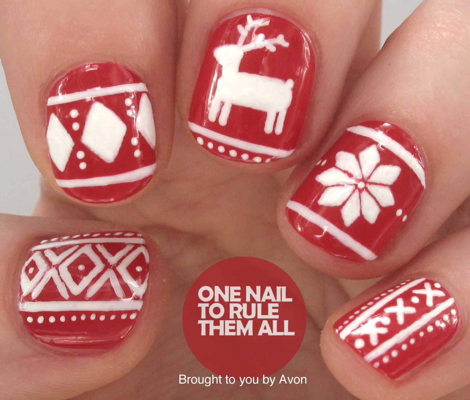 One Nail To Rule Them All Fairisle Nails
