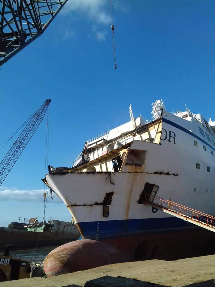 Astor being scrapped in Aliaga Turkey