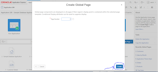 Oracle APEX Tutorial - What is Global Page Or Zero Page In Oracle APEX