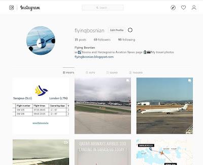 BiH Aviation News on Instagram