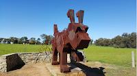 Rusty the BIG Tin Dog Sculpture in Dowerin   Australian BIG Things