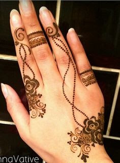Flowers Ring Mehndi Designs For Fingers