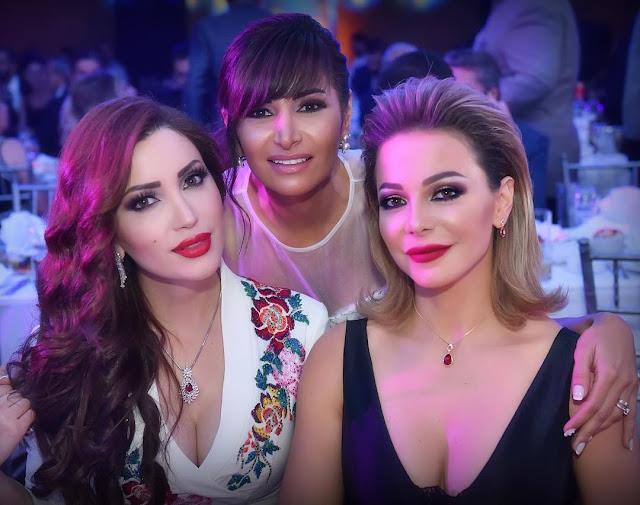 سوزان نجم الدين مع رشا شربتجي ونسرين طافش من حفل إطلاق  مسلسل شوق