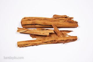 Cinnamon Spice sticks in a white background