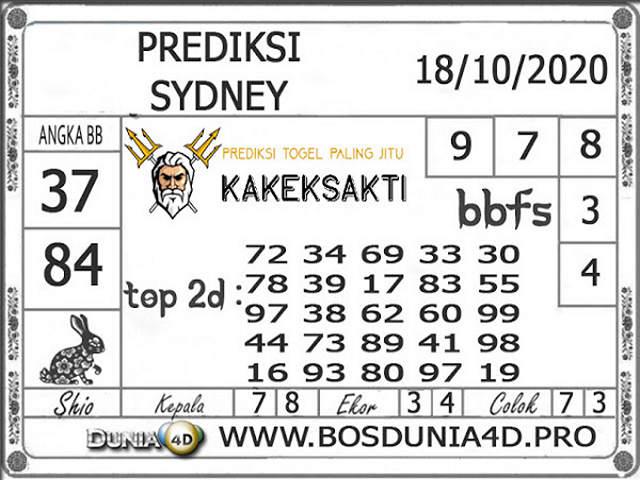 Kode syair Sydney Minggu 18 Oktober 2020 160