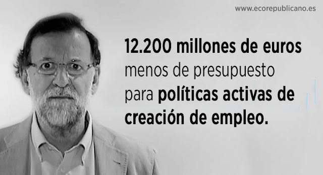 El Gobierno español ahorra a costa de los parados