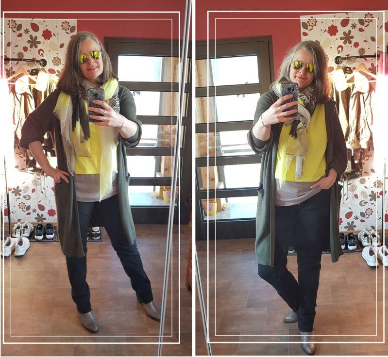 [Tall fashion] Illuminating und Sphagnum - Gelb zu Khaki
