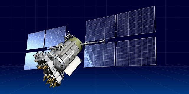 An artist's rendering of a GLONASS-M satellite. Image Credit: ISS Reshetnev