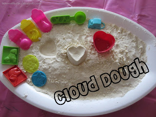 cloud dough recipe. how to make cloud dough