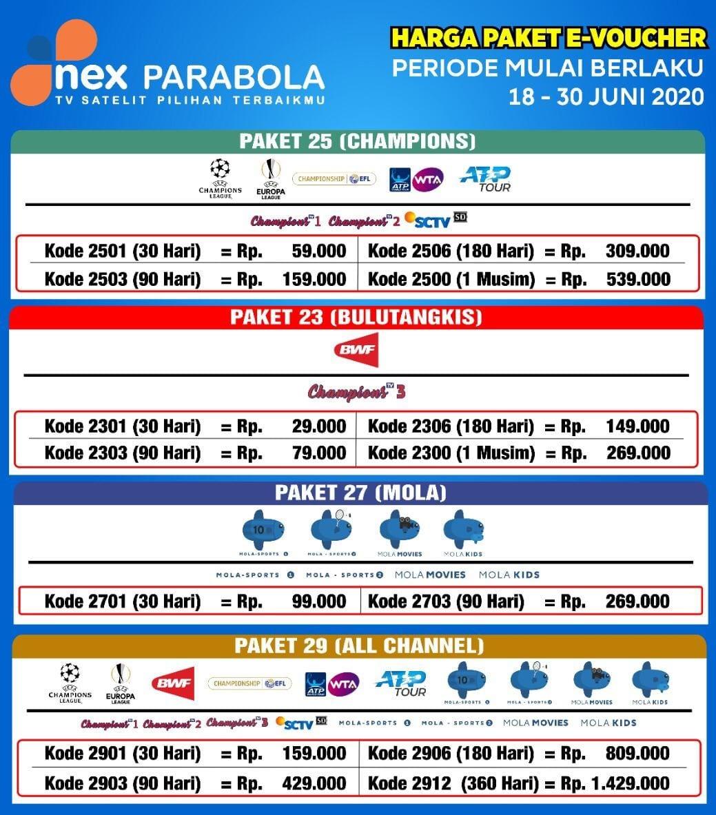 paket liga inggris nex parabola juni