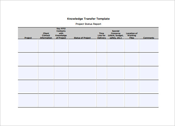 Knowledge Transfer Plan Template - Free Word Format - Best Free ...