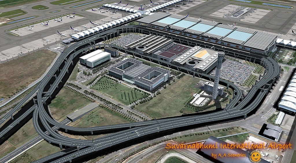 Download A_A Scenery Suvanabhumi Airport (VTBS) From Fsx/P3D | Waktu