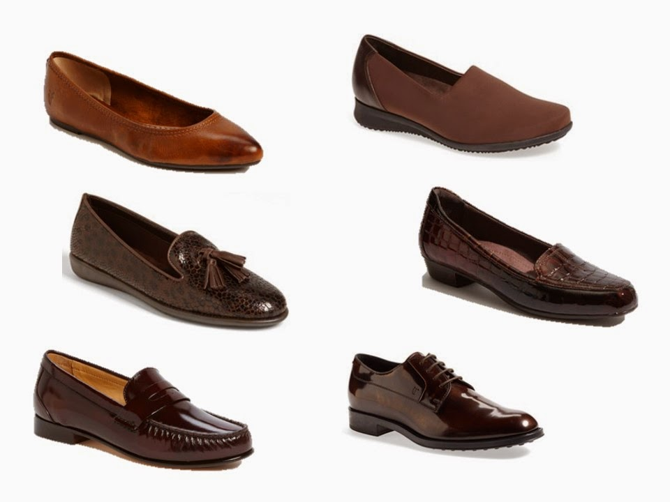 simple brown women's shoes that can be worn with dress trousers