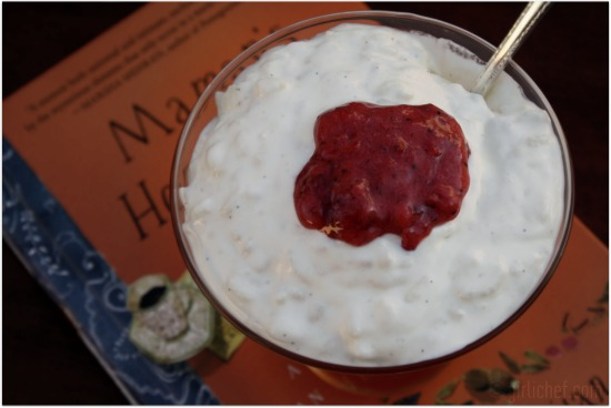 Rosewater-scented Rice Pudding inspired by Maman's Homesick Pie