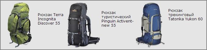 Рюкзаки туристические и городские фирм Terra Incognita, Pinguin, Tatonka в интернет-магазине