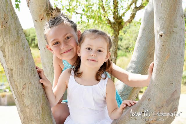 portrait enfants, filles, soeurs