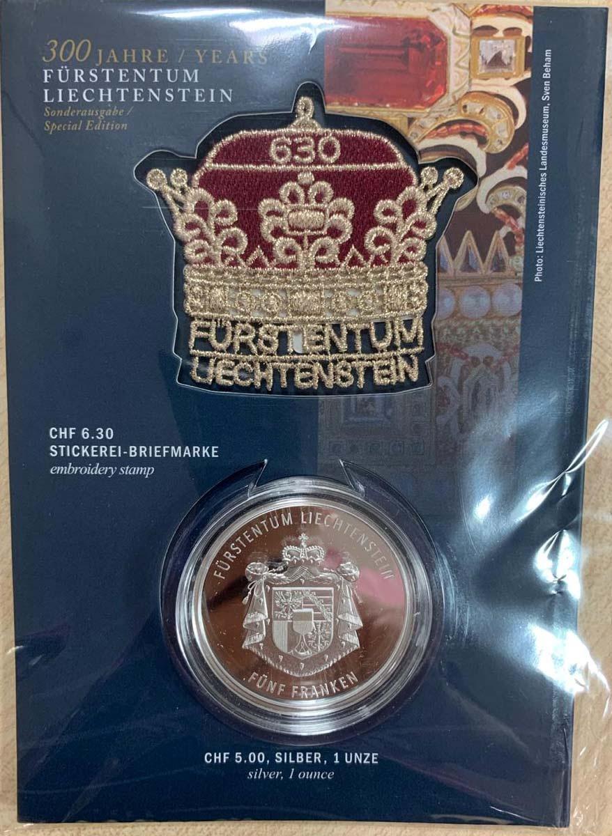 Liechtenstein 2019 300th Anniversary of Duchy Silver Medal Coin,Proof