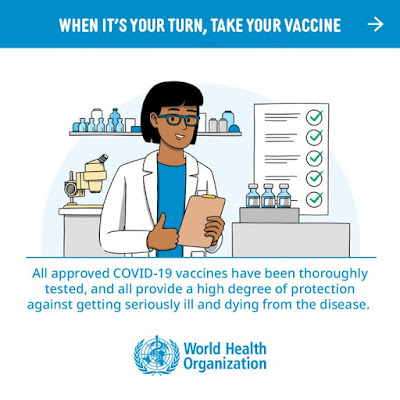 When its your turn take your vaccine the World Health Organisation