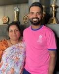 ajinkya rahane with her mother