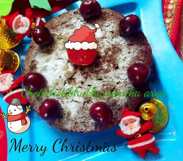 Christmas Cake withou sugar and alchol makes it more healtht with nuts and fruits