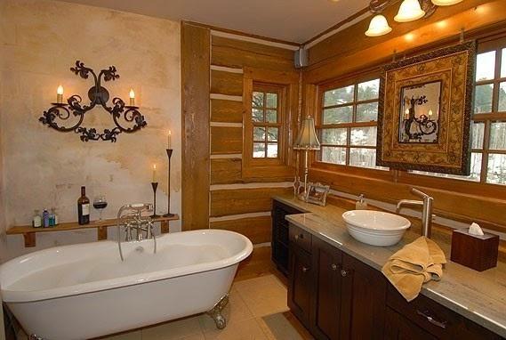 paredes de baño rústico