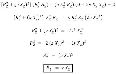 Maximum Torque Condition of Induction Motor & Expression