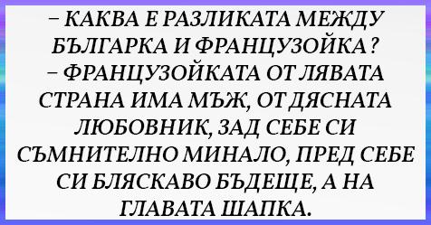 [УНИКАЛЕН ВИЦ] Каква е разликата между българка и французойка